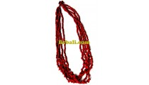beads stone bali necklaces multi seeds designs