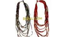 casandra beads multi seeds necklace charm