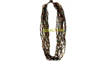 mix color glass beads necklace charms fashion