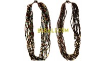 multi color glass beads necklace charms bali