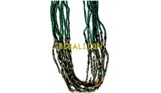 multi layer bead charming necklaces