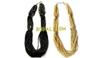 multi strand beads necklaces bali 2015