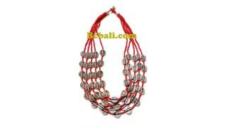 5strand strand choker necklace charm beaded fashion