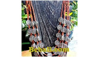 two color shown choker necklace beading charming