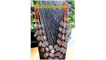 bali casandra 5strand necklaces coin beads