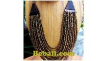 balinese golden glass bead choker ethnic necklace hand work design