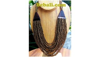 two color shown necklaces choker seeds beading wood ethnic design