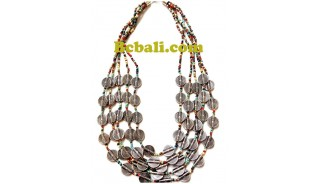 two color shown choker necklace beads charming