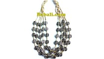 natural beads balinese necklaces choker 5seed design