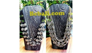 two color shown choker necklace beads charm bali design