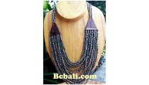 unique glass bead multiple choker necklace handmade bali
