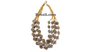 5strand bead necklace charms fashions accessories
