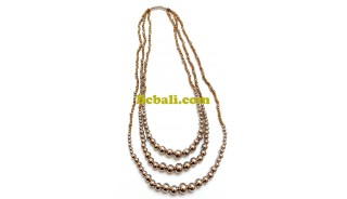 tangerine beads triangle seeds necklaces fashion