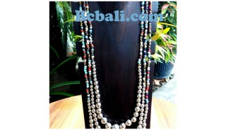 tangerine beads triangle seeds glass necklaces fashion