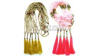balinese tassels necklaces beads handwork handmade