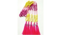colorfull beaded stone necklace tassels fashion crystal
