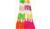 colorfull beaded stone necklaces tassels fashion crystal