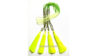 crystal beads tassels necklaces fashion