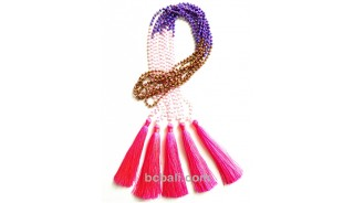 bali crystal beads tassels necklaces fashion