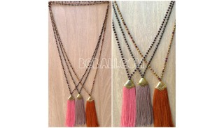 chrome crystal beads tassels necklaces pendant 3color