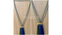 crystal bead tassel necklaces golden chrome dark