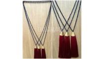 golden chrome tassel necklaces bead crystal