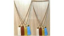 handmade tassel necklace 4color design crystal bead