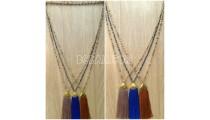 handmade tassel necklace antiq design crystal bead