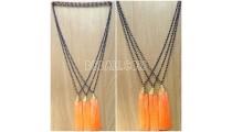 mono crystal abalone tassel necklaces pendant design