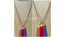 necklaces tassel pendant crystal beads bali