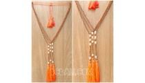 Original water pearls tassels necklaces crystal