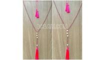 water pearls original tassels necklaces crystal bali