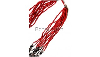 beads crystal necklace multiple seed stainless fashion