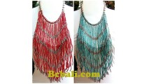 multiple layer chandelier glass bead choker necklaces rumbai fashion