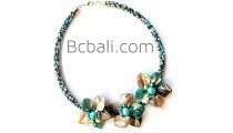 chokers necklaces glass beads flowers shells