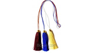 bali small beading tassels necklaces cotton pendant