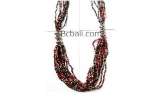 multi strand beaded necklace fashion bali design
