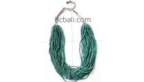 turquoise fashion bead necklace multiple layer design 2015