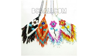4 color crystal beads miyuki necklaces pendant strings long
