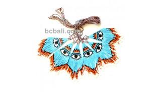 evil eyes pendant crystal bead miyuki fashion jewelries