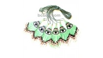 evil eyes pendant necklaces crystal bead miyuki fashion