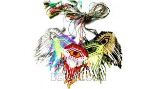 5 color necklaces pendant evil eyes crystal bead miyuki
