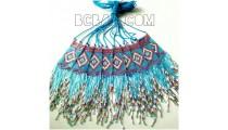bali miyuki necklace sequare bead crystal