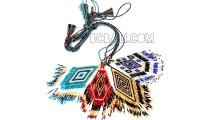 necklaces pendant glass beads miyuki piramid design