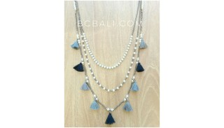balinese tassels necklaces design multiple charms