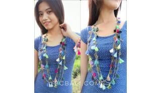 multi tassels necklaces fashion single layer