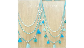multiple tassels necklaces fashion accessories beads