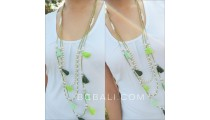 tassels necklaces beads triple fresh pearls strand bali
