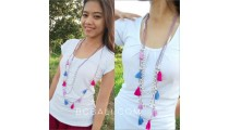 triple seeds beads tassels necklaces multi pendant