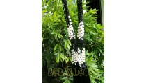 fashion tassels pearls shells necklace with crystal